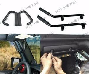 Fit 07 17 Jeep Wrangler Jk 2 4d Front rear Solid Steel Side Door Grab Handle Bar