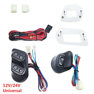 Universal 12v 24v Buttons Car Power Window Switches With Holder