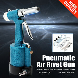 Pneumatic Air Riveter Hydraulic Tool Pop Rivet Riveting Gun Home Garage Tools
