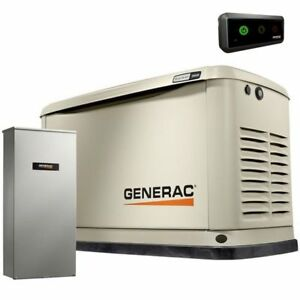 Generac Guardian trade 11kw Aluminum Standby Generator System 200a Service