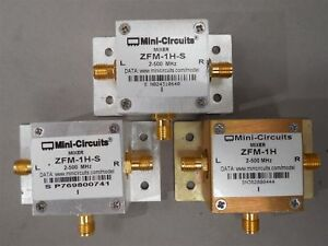 3pc Mini circuits 1 Zfm 1h 2 Zfm 1h s Coaxial Frequency Mixers 2 500mhz Used