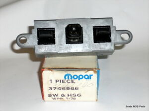 Nos Mopar 1976 80 Plymouth Dodge Electric Seat Adjustment Switch 3746966