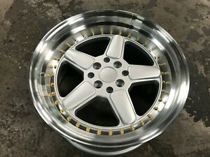 New 17 Inch Staggered Ac Schnitzer Design Wheel Set Of 4 Pcd 4x100