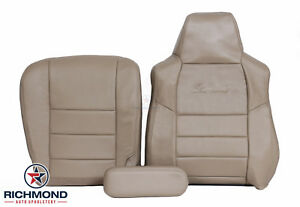 2005 Ford Excursion Limited Driver Side Complete Leather Seat Covers Tan