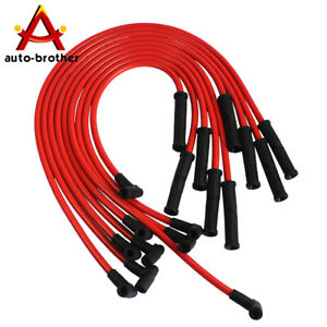 New Spark Plug Wires Set 90 To Straight For V8 Chevy Sbc Bbc 350 383 400 454