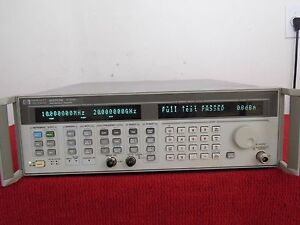 Agilent Hp 83752b Opt 1e1 1ed 01 20 Ghz Synthesized Sweeper
