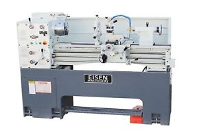 Eisen 1440ge Precision Lathe 5hp Dro Made In Taiwan One piece Cast Iron Base
