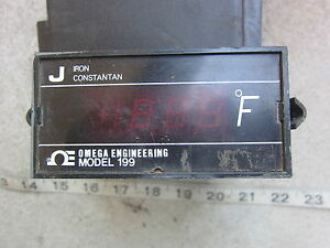 Omega 199 Type J Thermocouple Thermometer Used