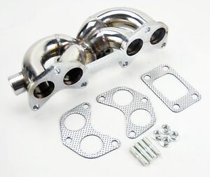 Ford Probe Mazda 626 Mx6 88 92 2 2l T3 Stainless Steel Turbo Exhaust Manifold