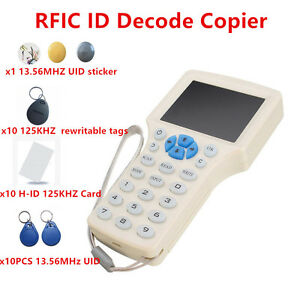 Nfc Reader Writer 125khz 13 56 Mhz Ic Id Card Rfid Copier F Uid Tag Duplicator