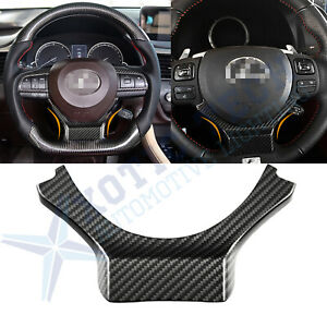 Steering Wheel Carbon Fiber Add On Cover Trim For 2014 2017 Lexus Is250 350 200t