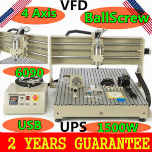 Usb Cnc Vfd 1500w Router 6090 Engraving Machine Wood Acrylicball Screw Us Best