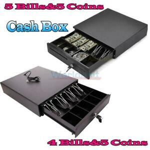 Cash Money Drawer Box 4 Bill 5 Bill 5 Coin Tray Compatible Works W pos Rj11 Us