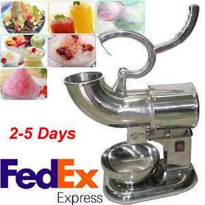 Commercial Stainless Steel Electric Snow Cone Machine Ice Shaver Crusher Maker