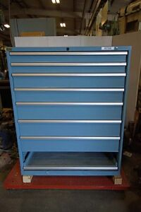 Lista 8 Drawer Double Wide Tooling Storage Cabinet inv 37500