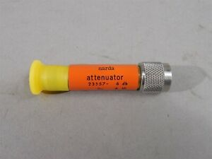 Narda 23557 Attenuator 6db Dc 12 4ghz Tnc New