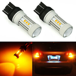 Jdm Astar 2x 7443 7440 1300lm Amber Yellow Turn Signal Brake Tail Led Light Bulb