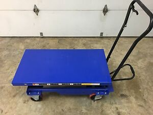 Portable Scissor Lift Cart Industrial Hydraulic Elevating 1 Ton 39 Lift Height