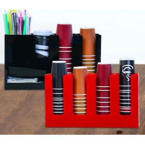 Professional Holder Racks Organizer For Lids And Paper Coffee Cups 2 Types