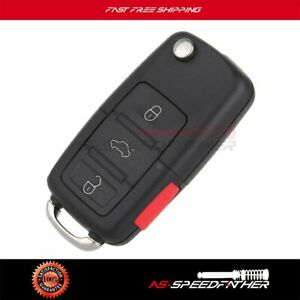 Uncut Replacement Key Fob Remote For 2002 2003 2004 2005 Volkswagen Golf Jetta