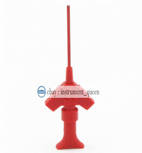 10pcs Red Smt Dual Dupont Test Clip With Pincer Hook Gripper Probe For Ic Test