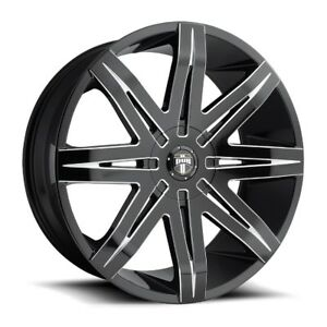 22x9 5 Dub Stacks S227 6x135 6x5 5 Et30 Gloss Black Milled Wheel 1