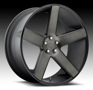 24x10 Dub Baller S116 5x5 5 Et26 Black Machine Ddt Wheel 1