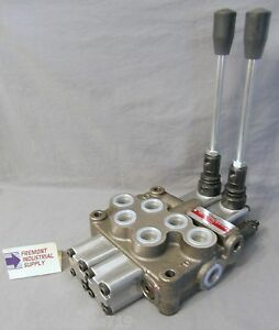 Hydraulic Directional Control Valve 2 Spool Motor Spool Detented 21 Gpm