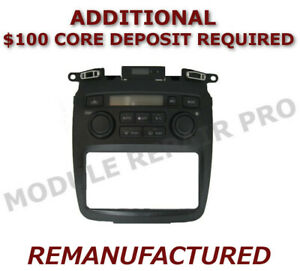 Reman 2001 2007 Toyota Highlander A c Heater Climate Control Eatc Exchange Black