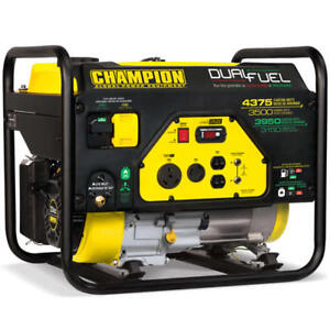 Champion 100307 3500 Watt Dual Fuel Portable Generator W Rv Outlet
