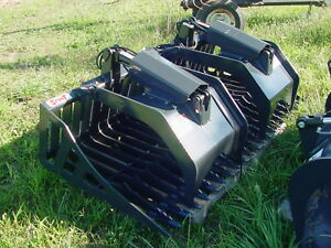Stout Hd 72 3 Skid Loader Rock Brush Grapple Bucket