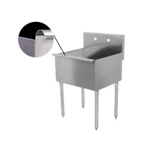 One Compartment Stainless Steel Sink 12 X 15 Not Nsf