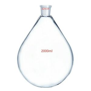 2000ml 24 29 glass Recovery Flask rotary Evaporator Flask 2l lab Pyriform Bottle