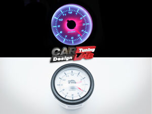 52mm Clock Time Car Truck Gauge Meter White Led White Face Clear Lens 12v