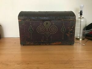 Vintage Moroccan Trunk 100 Leather