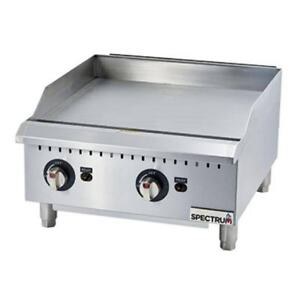Winco Ggd 24m 24 inch Spectrum Gas Griddle With 2 Cooking Zones Nsf 4 Etl Ce
