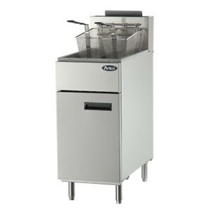 Atosa Cookrite Atfs 40 40 lbs Heavy Duty Deep Fryer Stainless Steel
