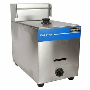 Uniworld Ugf 71 1 basket Countertop Gas Fryer Ce