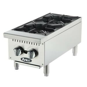 Atosa Cookrite Achp 2 12 in Heavy Duty Two Burner Hot Plate Countertop Range