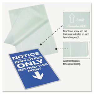 Swingline Ezuse Thermal Laminating Pouches 7 Mil 11 1 2 X 9 100 box 3200717 New