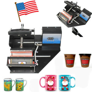 Dual Station Digital Transfer Sublimation Heat Press Machine Coffee Cup Mug Cup