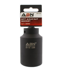 Abn Axle Nut Socket 1 2 Inch Drive Universal For 6pt Axle Nut On Vehicles