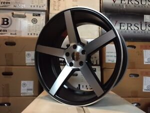 20 Black Machine Cv3 607 Style Concave Wheels Rims Acura Tl Tsx Type S