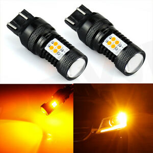 Jdm Astar 2pcs Amber Yellow 7443 7440 1500lm 14 smd Led Turn Signal Light Bulbs