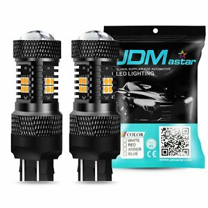 Jdm Astar 2x 1500lm Amber Yellow 7440 7443 14 smd Led Turn Signal Light Bulbs