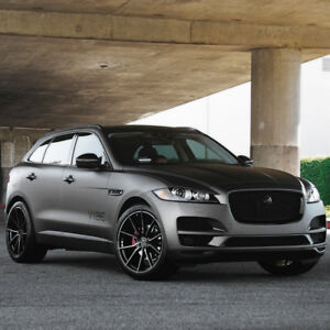 21 Vertini Rf1 2 Black Forged Concave Wheels Rims Fits Jaguar F pace