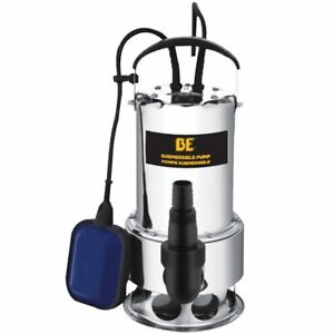 Be St 900sd 56 Gpm Stainless Steel Submersible Trash Pump W Float Switch