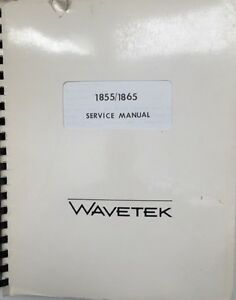 Wavetek 1855 1865 Sweep Recovery Service Manual W schematics P n 6510 10 0002
