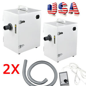 2x Dental Digital Single row Dust Collector Collecting Vacuum Cleaner Equipment