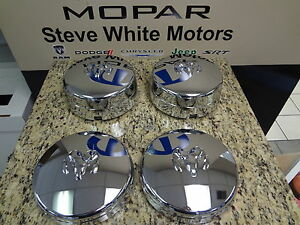 Dodge Ram 3500 Dually Wheel Chrome Cover Center Hub Cap Caps Set Mopar Factory
